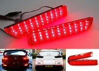 For Mitsubishi Lancer Evo X Outlander Red Lens Bumper Reflector LED Tail Brake Stop Light