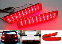 For Mitsubishi Lancer Evo X Outlander Red Lens Bumper Reflector LED Tail Brake Stop Light