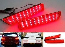 Pour Mitsubishi Lancer Evo X Outlander Rouge Lentille Pare-chocs Réflecteur LED Arrêt des Feux De Freins