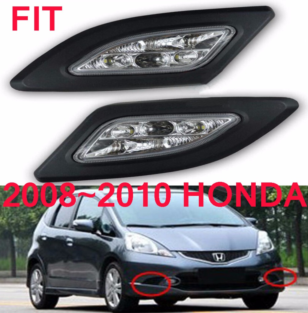 LED,2008~2010 Fit daytime Light,Jazz,car styling,Delsol,Fit headlight,car accessories,Fit fog light,motorcycle 2018 2019 pegas daytime light null car accessories pegas taillight motorcycle free ship led pegas fog light car styling k2 k3 k5