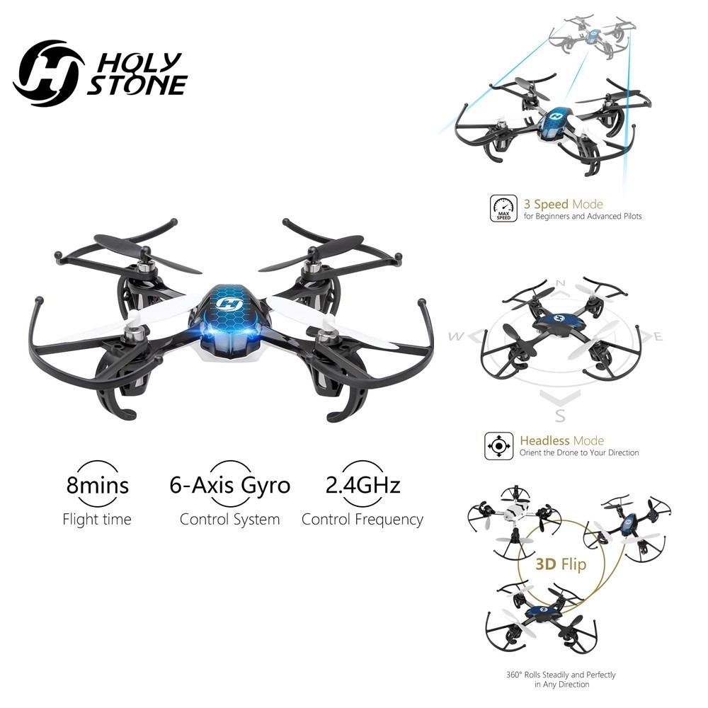[UE ee.uu. Stock] Piedra Sagrada HS170 Mini Drone RC helicóptero Headless modo 2,4 GHz 6 Axis Gyro 4Ch Mini Quadcopter UE ee.uu. sin impuestos