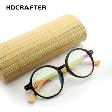 2017  HDCRAFTER wooden eyeglasses frame men women fashion plain glasses computer optical myopia eye oculos de grau