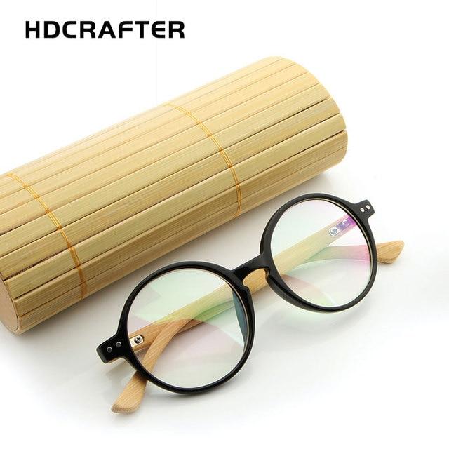 hdcrafter round wood bamboo eyeglasses men retro optical glasses