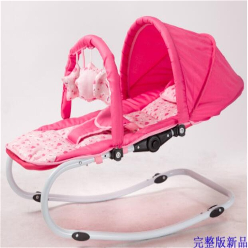 Multipurpose Portable Safety Baby Rocking Bed Deck chair The cradle 2017 new babyruler portable baby cradle newborn light music rocking chair kid game swing