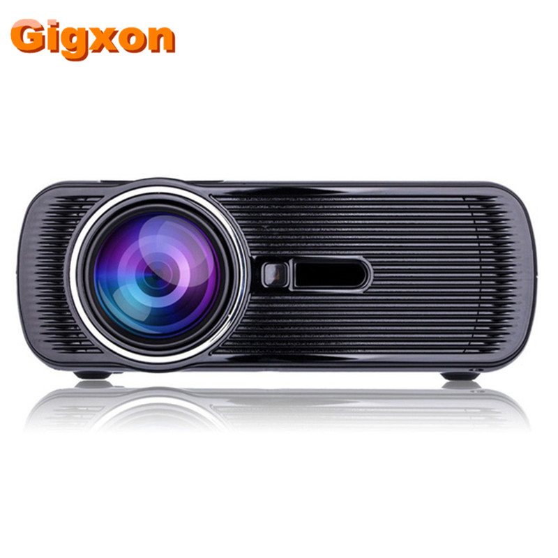 Gigxon- G80 2016 New Portable Digital Mini 1000lumens LED LCD Projector HD 1080P Home Theater support USB SD VGA ATV HDMI gigxon g700a android portable mini projector support full hd level 1920x1080pixels 1200 lumens led projector