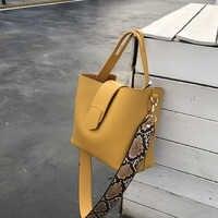 2020 High Quality PU Leather Handbag Women Casual Tote Bag Female Large Shoulder Messenger Bags Handbag With Wide Strap