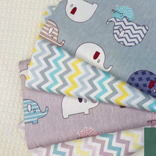 Elephant Cotton Twill Fabric Printed fabric by half meter DIY Childrens Wear Cloth Make Bedding Quilt Decoration Home
