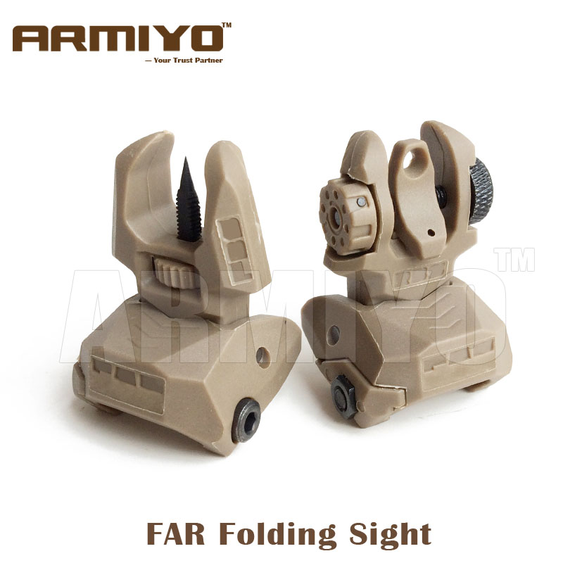 Armiyo Tactical FAR Front And Rear Daul Aperture Rifle Folding Sight 20mm Rail Hunting Shooting Scope Accessories