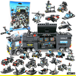 Image 1 - 8 in 1 SWAT City Police Station Toys Weapon Gun Block Assembled Building Block Toys For Children Compatible with Classic Gift