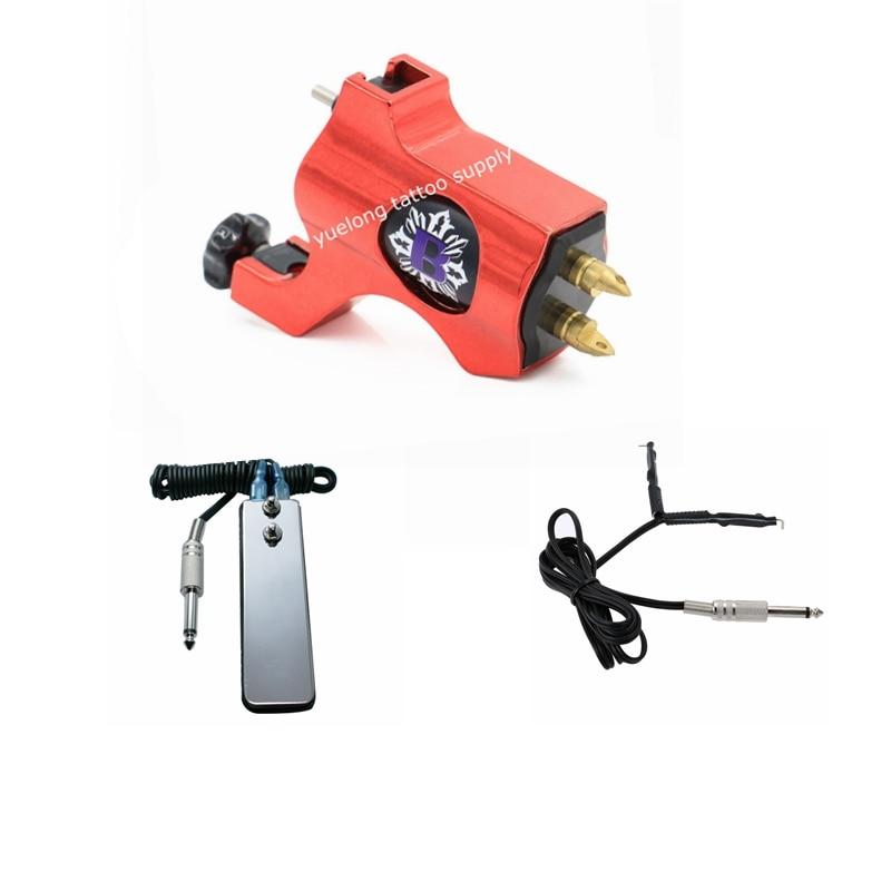 1pcs Tattoo Machine Set  clip cord pedal swich Dragonfly Rotary Tattoo Machine Shader Liner Assorted Tattoo Motor Gun Kits подвесная люстра crystal lux emilia sp8