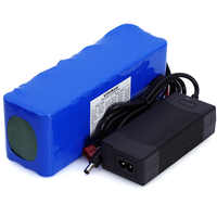LiitoKala 36 v 10Ah 10S3P 18650 akumulator, zaktualizowane rowery, elektryczny akumulator do pojazdu ładowarka litowo jonowa bateria + 2A