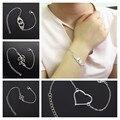 1 pcs New Silver Color Infinite Bracelet for Women Fine Jewelry Bracelet for Men Friendship Bracelets  ns209