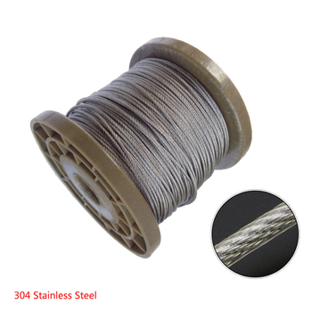 100 MTRS X 3MM 7//7 FLEXIBLE  STAINLESS 316  WIRE ROPE