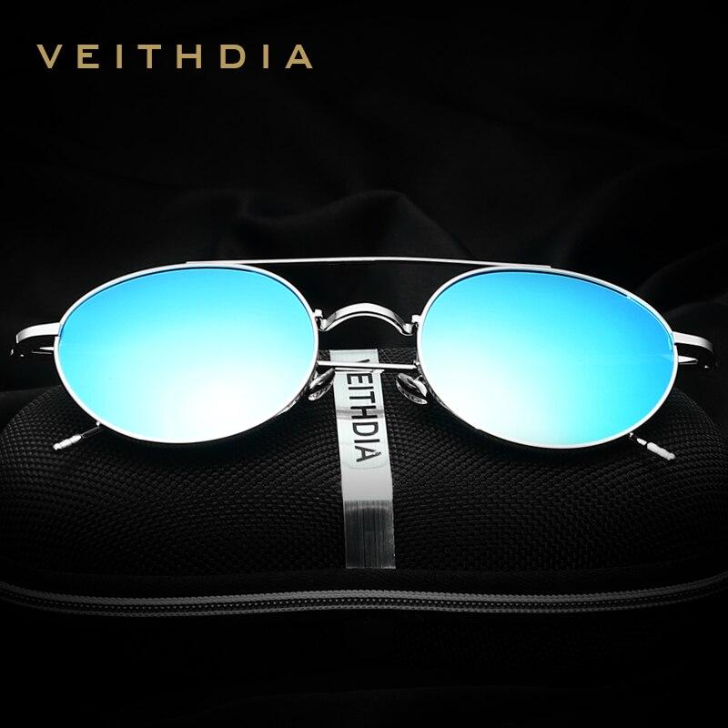 2016 VEITHDIA Brand Men Fashion Sun Glasses Polarized Coating Mirror Driving Sunglasses Round Male Eyewear For Women gafas 3617