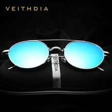2017 VEITHDIA Brand Round Fashion Men Sun Glasses Polarized Mirror Coating Sunglasses Male Eyewear For Women gafas oculos VT3617