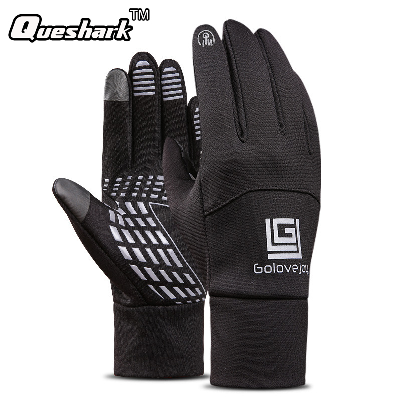 Winter Thermal Bike Gloves Windproof Warm Full Finger Cycling Gloves Anti-slip Riding MTB Road Bike Bicycle Gloves for Man Woman