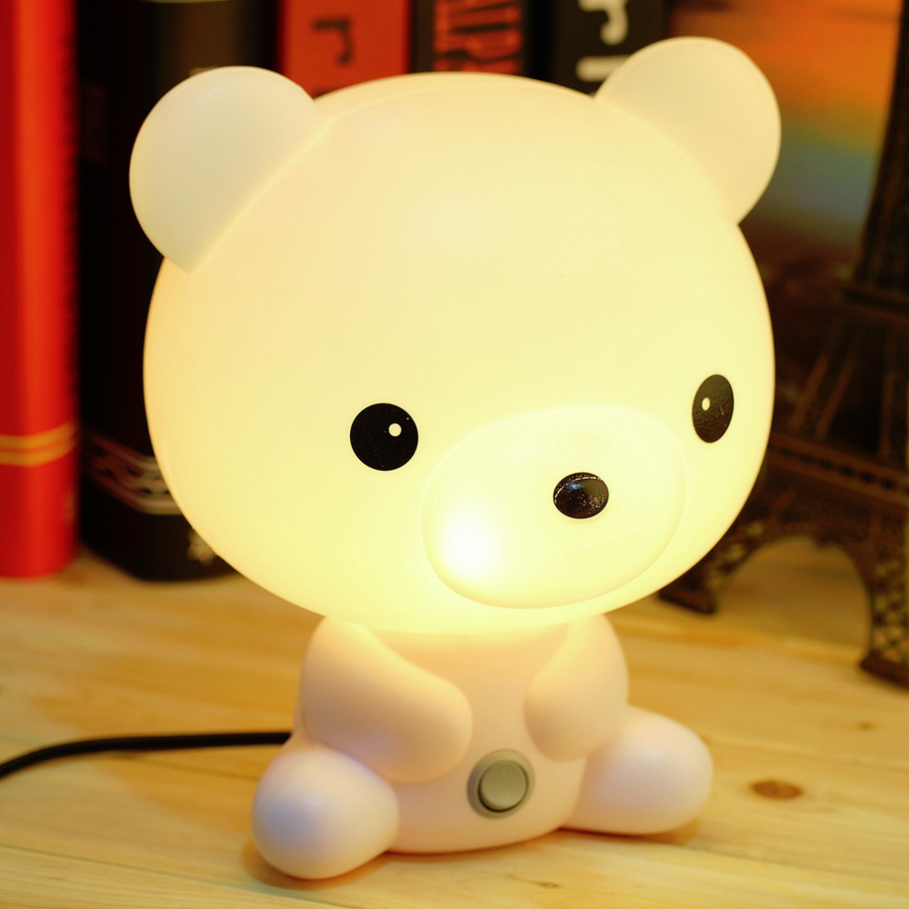 Cute panda cartoon animal led night light for children kids bed desk table lamp night sleeping night lamp gift dream ilumination in night lights from lights