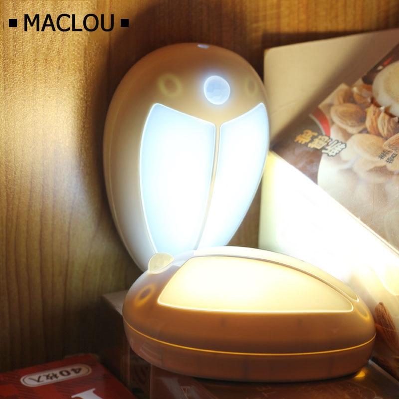 Us 989 Mini Owadów Czujnik Ruchu Dziecko Led Light Night Ganek ścienne Lampy Do Sypialni Przedpokoju Szafy Klatki Schodowe Closet Wc Lampka Nocna