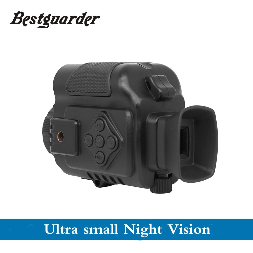 Hunting Night Vision 200m Range Monocular Telescope Auto IR with Mic Portable outdoor monoculars Handheld or on Gun / Helmet New