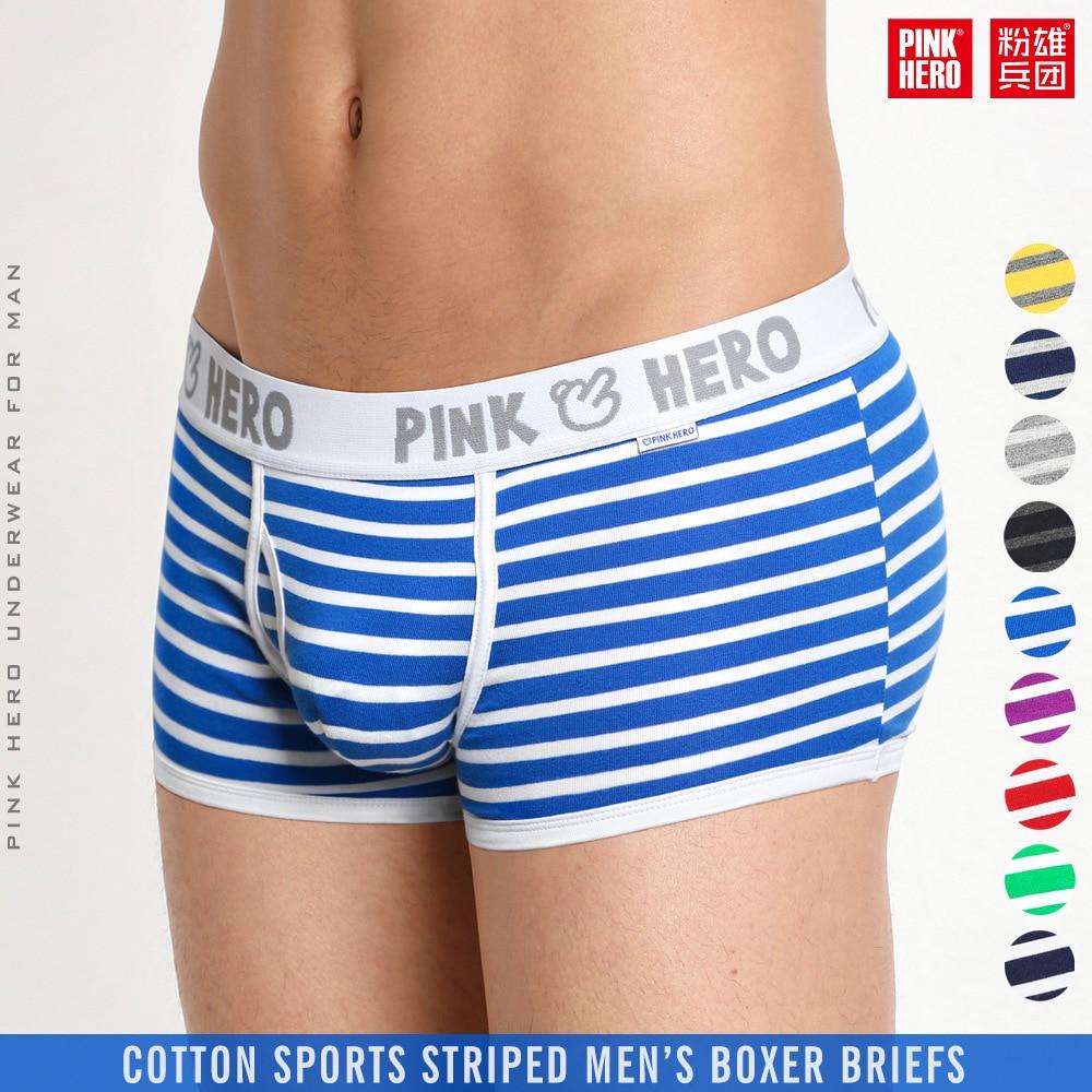 52e5c2c66bf7 Rosada Hero hombres ropa interior masculina bóxer de algodón liso bóxer pantalones  cortos ropa de marca Cueca Cuecas bóxer U convexo bolsa