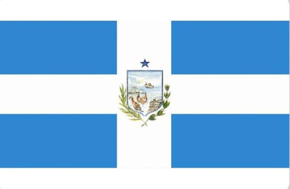 Ecuador, Manta City Grommets Large Indoor Outdoor Flag