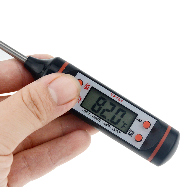 1pcs Kitchen Barbecue Baking Electronic Digital Food Thermometer Cooking Tools Water Water Milk Oven Thermometer Kitchen Tools