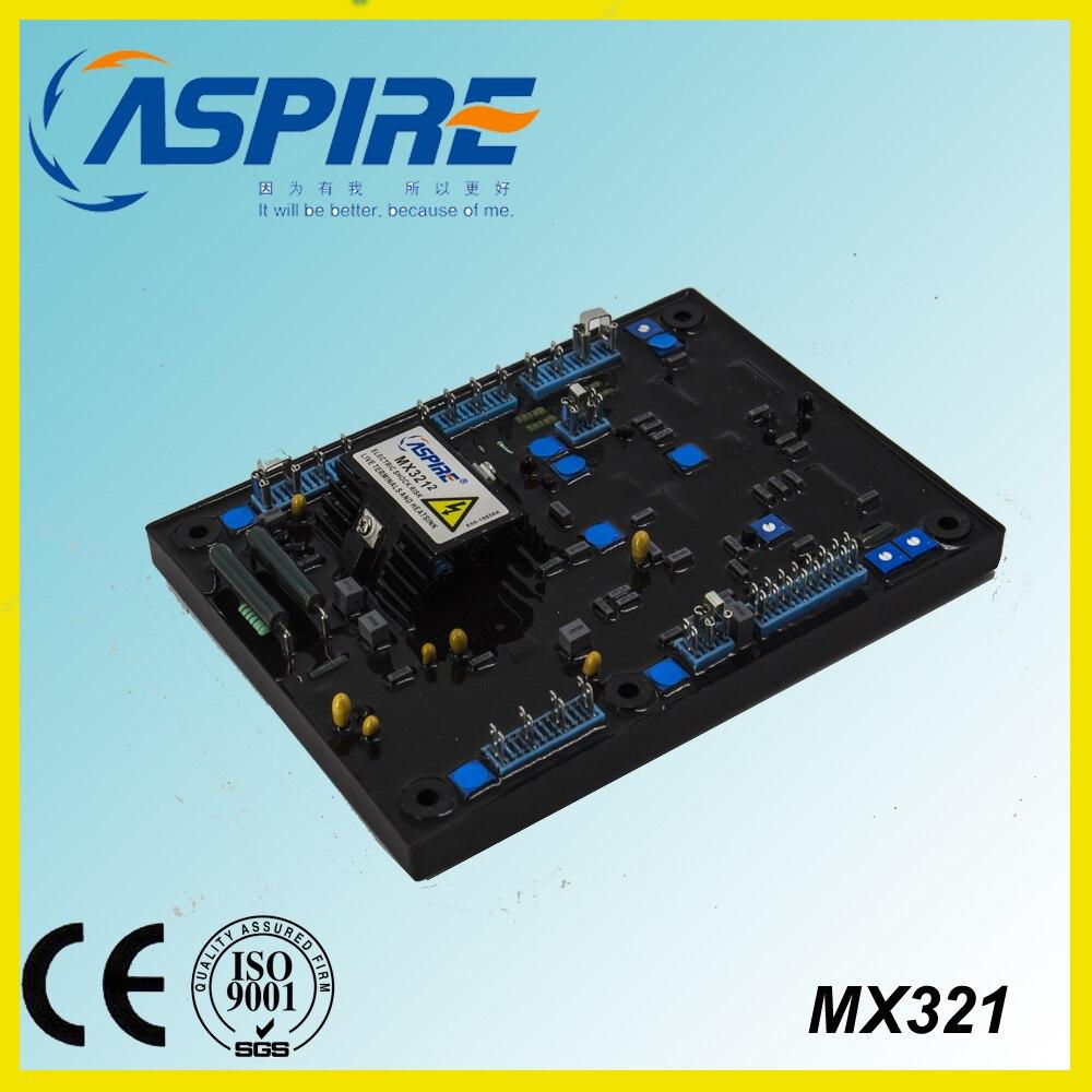 ASPIRE AVR automatic voltage regulator MX321 brushless generator 50 60hz automatic voltage regulator for kutai brushless generator avr ea16 free shipping