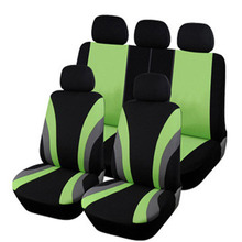 Universal Car Seat Cover Set 9Pcs Covers Front Back Headrest Polyester 3 Styles Optional
