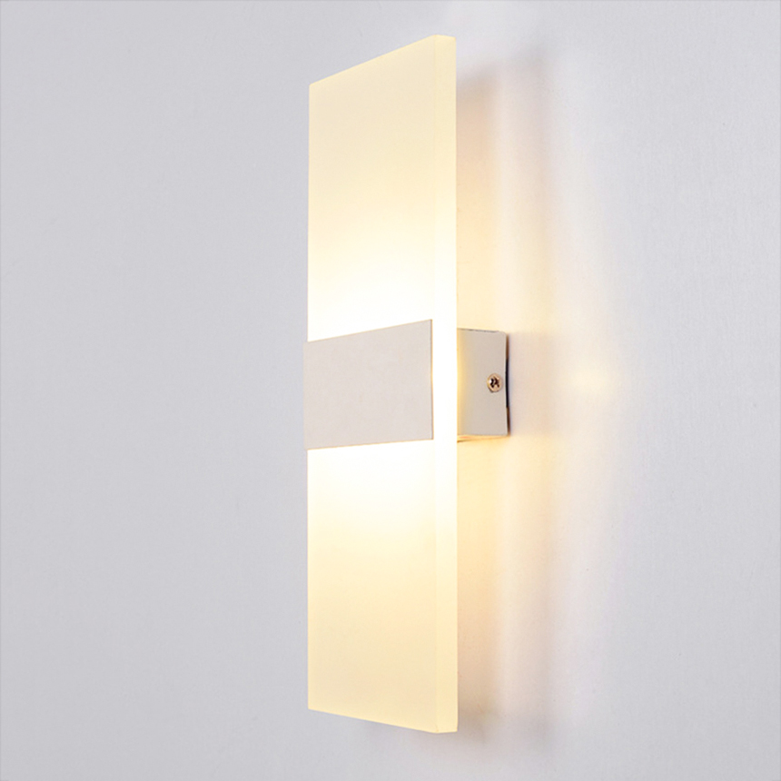 Modern Acrylic 34cm 6W warm white modern led wall light Creative shape wall lamp lights for home Decoration Factory Wholesale new design nature white 2heads 6w 30cm led modern crystal wall lights lamp sconce factory wholesale led lightings