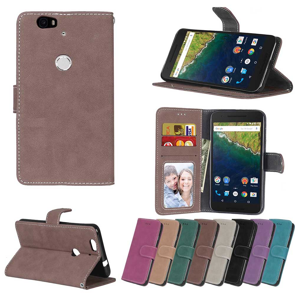 Case for Google Huawei NEXUS 6P 6 P P6 H1511 H1512 Case Flip Phone Leather Cover for Huawei Angler NEXUS6P H 1511 1512 Cases image