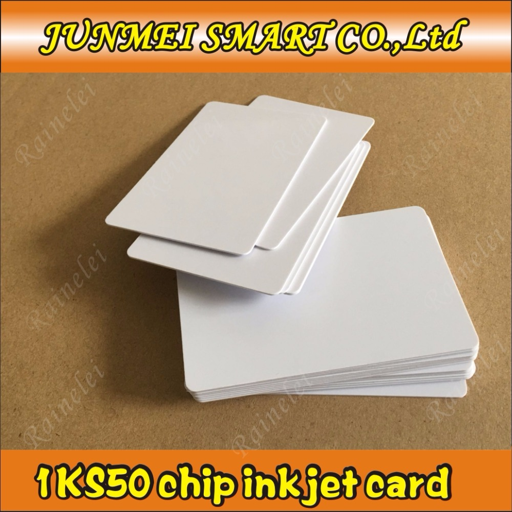 Lower Price with 20pcs Smart Cantactless Ic Card Pvc Rfid Proximity 13.56mhz Chip Pvc Card Print By Epson Or Canon Inkjet Printers For Fast Shipping Business Cards