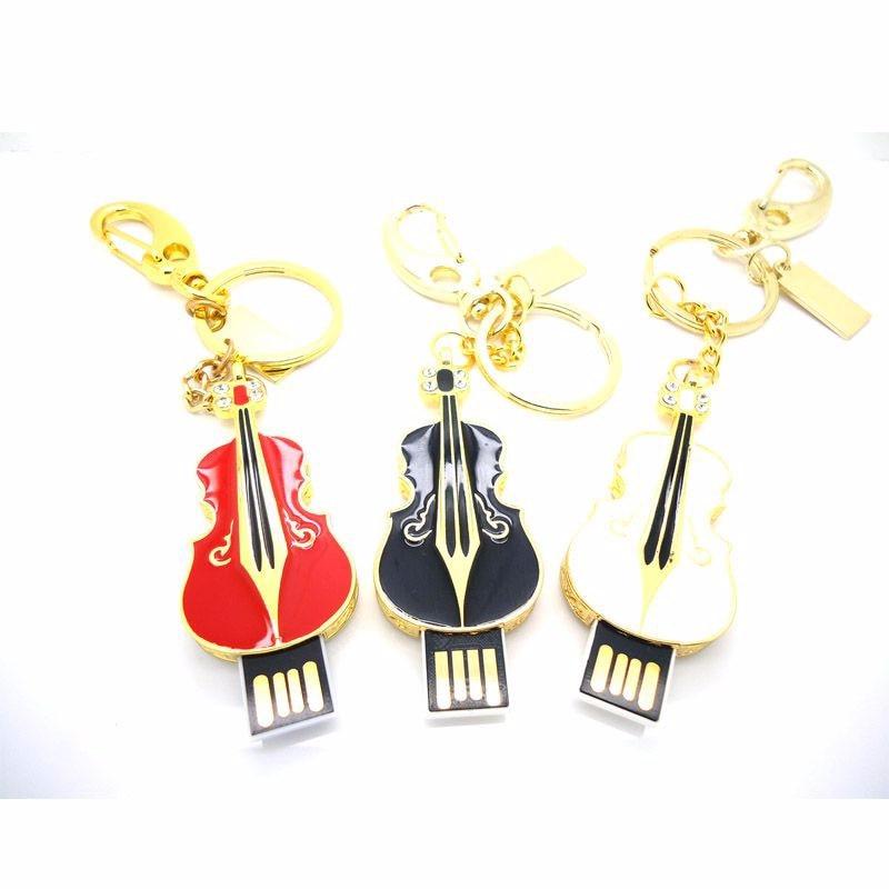 new promotion pendrive musical instrument violin metal usb flash drive 32gb memory stick pen drive 64gb 16gb fashion gift u disk