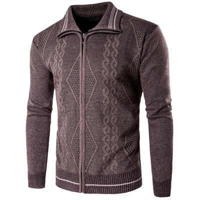 Свитер мужской осенне-зимний шерстяной мужской кардиган 2018 модная брендовая одежда верхняя одежда вязаный мужской джемпер Прямая поставка M-2XL