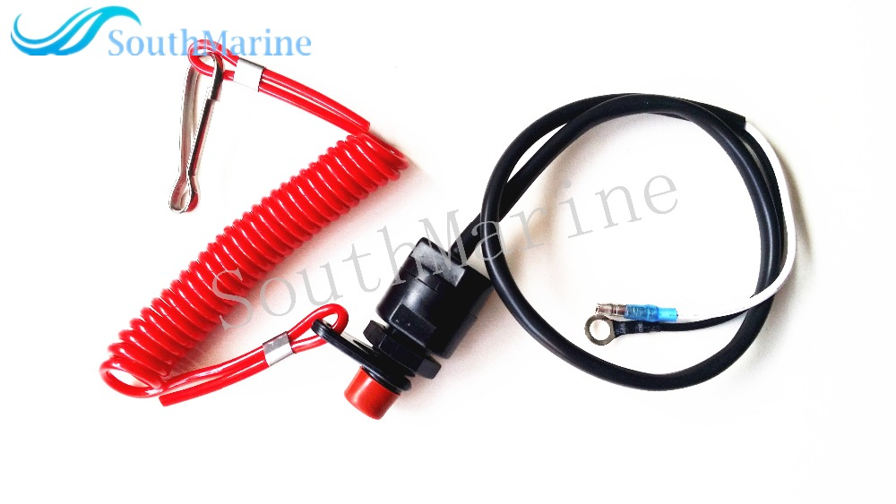 682-82556-00 & 65W-82575-00 6E9-82575-00 Kill Stop Switch & Safety Tether Lanyard for Yamaha / Tohatsu Outboard Engine