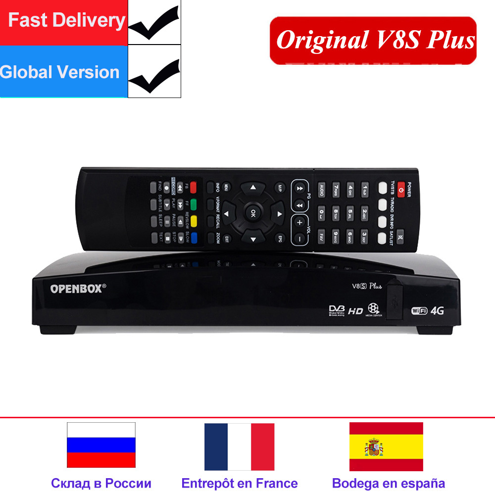 US $35 53 23% OFF|Openbox V8S Plus Satellite decoder DVB S2 receptor Set  top box Digital Satellite Receiver Support DVB S2 Xtream Youtube Biss  Key-in