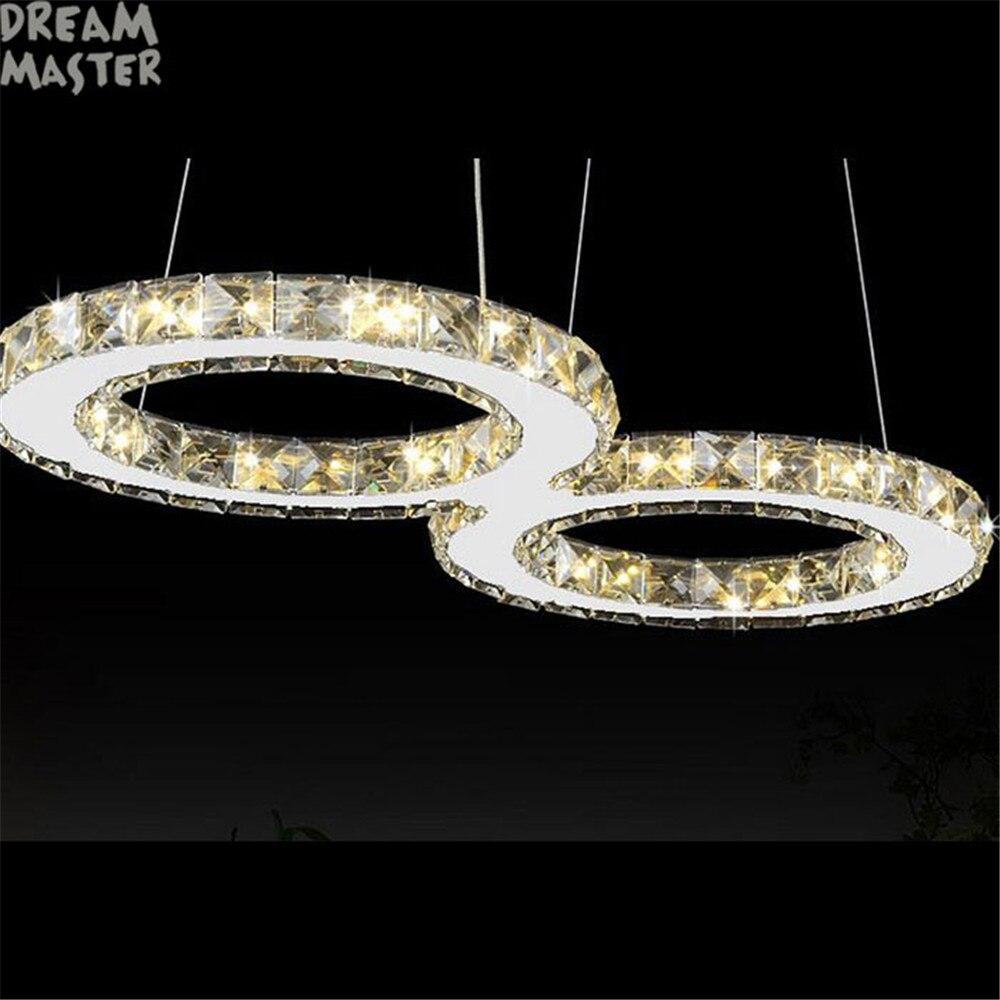 Moderne Pendentif En Cristal Lumires 6030 Cm 24 W Led Lumire Plafond Mont LED Lampe Pour La Maison Salon Chambre Salle Manger