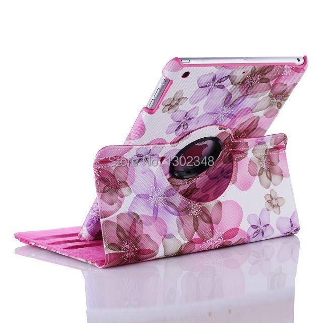 360 Degree Rotating Flower Printed Style Stand Leather Cover Case For Ipad 2 3 4 For Ipad 5 Air For Ipad Mini Mini 1 2 3