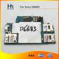 Abierto original de trabajo para sony xperia z3 l55u d6633 d6683 lte dual-sim motherboard placa lógica con chips