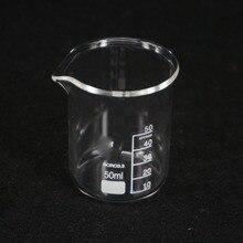 50 мл низкой формы стакан химический лаборатория G3.3 боросиликатное стекло Тяжелая стена