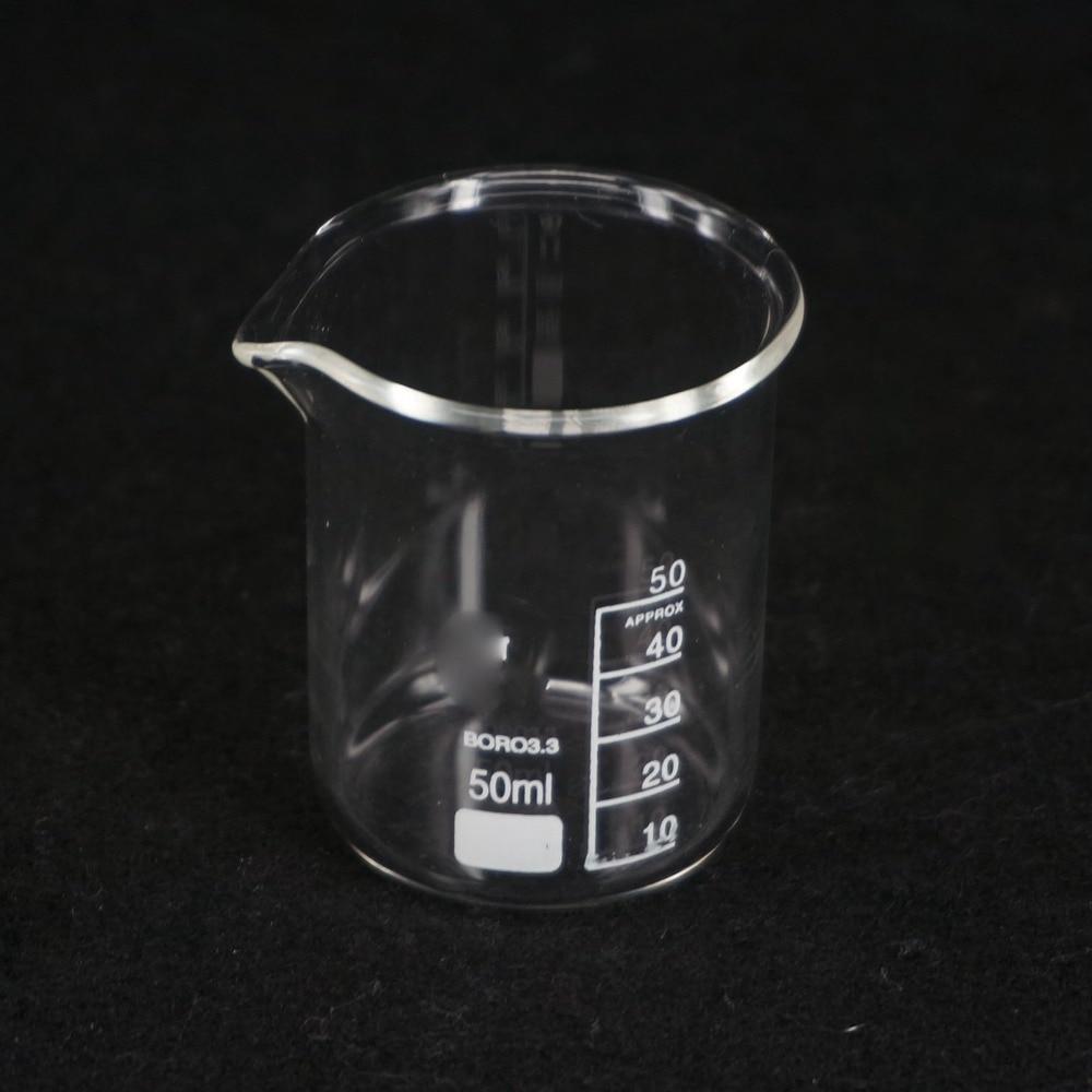 50ML Low Form Beaker Chemistry Lab G3.3 Borosilicate Glass Heavy Wall
