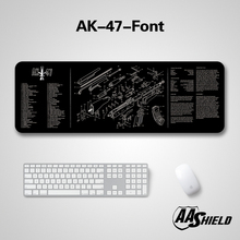 AA Shield High Quality Rubber Base Microfiber Cover Keyboard & Mouse Pad The Gun Picture Diagram Printting Multiple Patterns