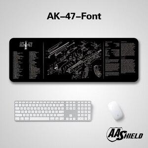 Image 1 - Aa escudo base de borracha alta qualidade capa de microfibra teclado & mouse pad a arma imagem diagrama impressão vários padrões