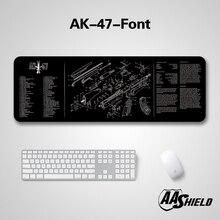 Cubierta de microfibra para teclado y alfombrilla de ratón, Base de goma de alta calidad AA Shield, Impresión de diagrama de imagen de arma, varios patrones