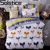 Solstice Home Textile Cartoon Fox 3 4pcs Bedding Sets Children S Beddingset Bed Linen Duvet Cover