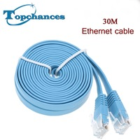 High Speed 30M Cat6 Ethernet Flat Cable RJ45 Computer LAN Internet Network Cord 30M 98 42ft