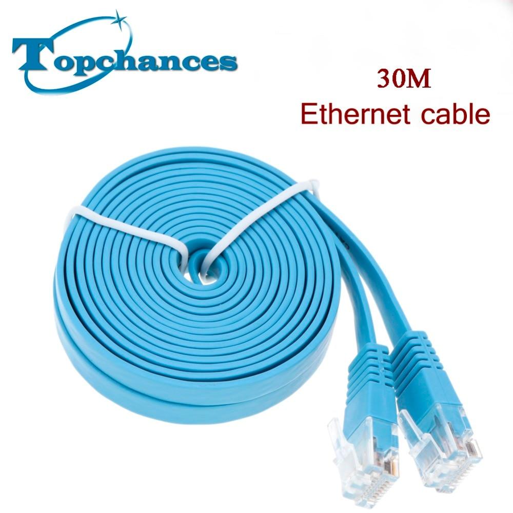 High Speed 30M Cat6 Ethernet Flat Cable RJ45 font b Computer b font LAN Internet font
