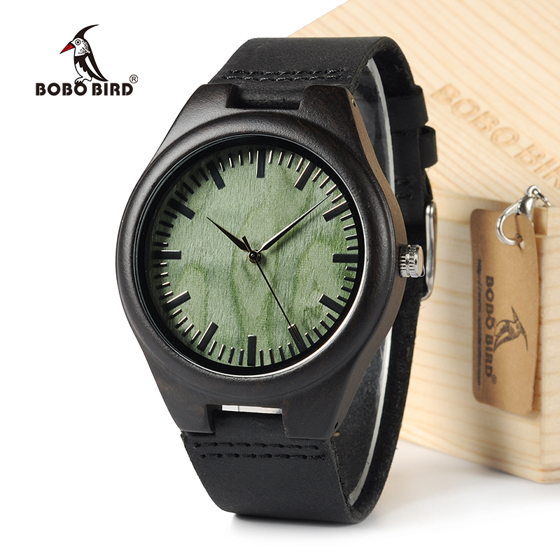 BOBOBIRD F03 Top Quality Retro Bamboo Wooden Watches Luxulry Brand Designer Watch Leather Band Quartz Watches for Men With Box