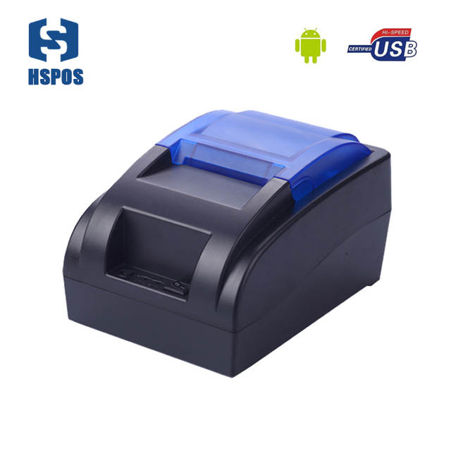 US $45 5 |58mm desktop bluetooth thermal printer usb interface connect  computer support windows and android high speed printing-in Printers from