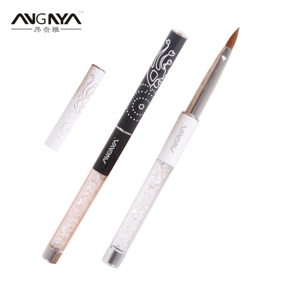 ANGNYA 1Pc Kolinsky Sable Acrylic Nail Brush 10#/Oval