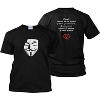 Gildan 2018 Customize T Shirts V Wie Vendetta T-Shirt Anarchy 99% Fawkes Anonym Rally T-shirt Ungehorsam T-shirt
